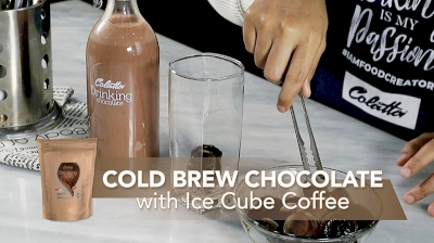 Cold Brew Chocolate with Ice Cube Coffee