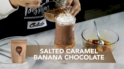 Salted Caramel Banana with Colatta Drinking Chocolate