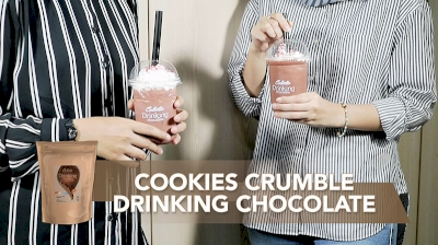 Cookies Crumble Drinking Chocolate with Colatta Drinking Chocolate