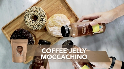 Coffee Jelly Moccachino with Colatta Drinking Chocolate